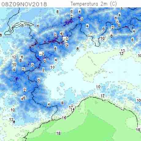 Carte meteo temperatura del <br /> <b>Notice</b>:  Undefined variable: current in <b>/home/meteopie/public_html/mappe-meteo.php</b> on line <b>25</b><br /> 14